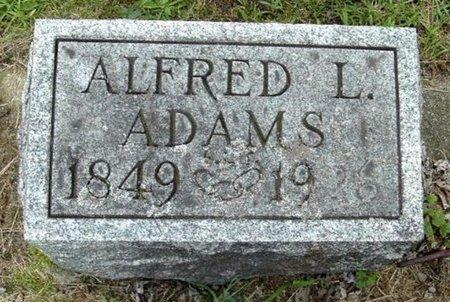 ADAMS, ALFRED L - Calhoun County, Michigan | ALFRED L ADAMS - Michigan Gravestone Photos