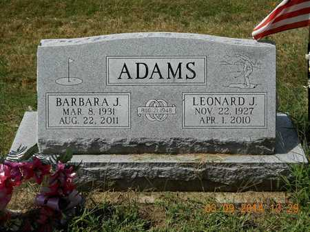 ADAMS, BARBARA J. - Calhoun County, Michigan | BARBARA J. ADAMS - Michigan Gravestone Photos