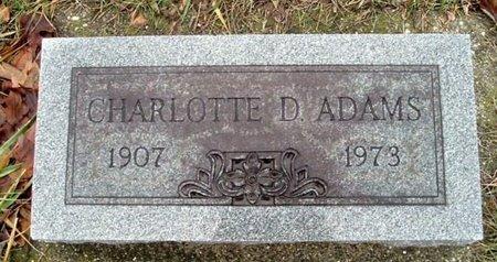 ADAMS, CHARLOTTE D. - Calhoun County, Michigan | CHARLOTTE D. ADAMS - Michigan Gravestone Photos