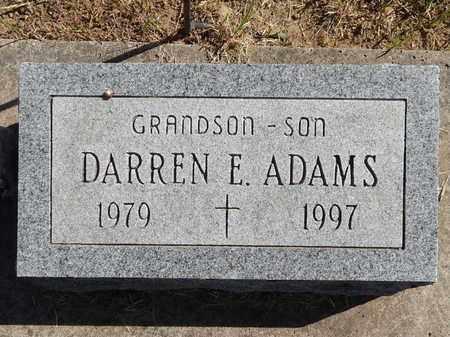 ADAMS, DARREN E - Calhoun County, Michigan | DARREN E ADAMS - Michigan Gravestone Photos