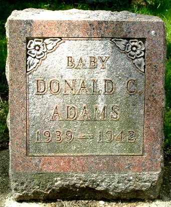 ADAMS, DONALD C - Calhoun County, Michigan | DONALD C ADAMS - Michigan Gravestone Photos