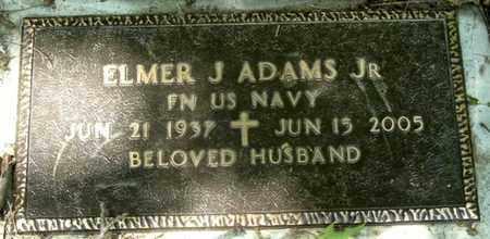 ADAMS, ELMER J., JR - Calhoun County, Michigan | ELMER J., JR ADAMS - Michigan Gravestone Photos