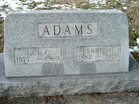 ADAMS, JENNIE H. - Calhoun County, Michigan | JENNIE H. ADAMS - Michigan Gravestone Photos