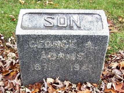 ADAMS, GEORGE A. - Calhoun County, Michigan | GEORGE A. ADAMS - Michigan Gravestone Photos