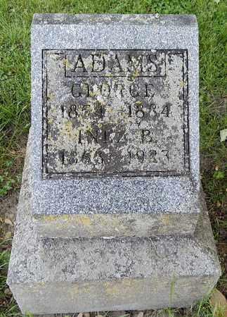 ADAMS, INEZ - Calhoun County, Michigan | INEZ ADAMS - Michigan Gravestone Photos