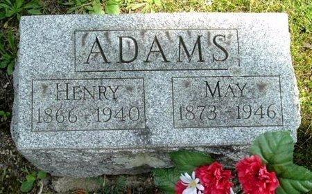 ADAMS, MAY - Calhoun County, Michigan | MAY ADAMS - Michigan Gravestone Photos