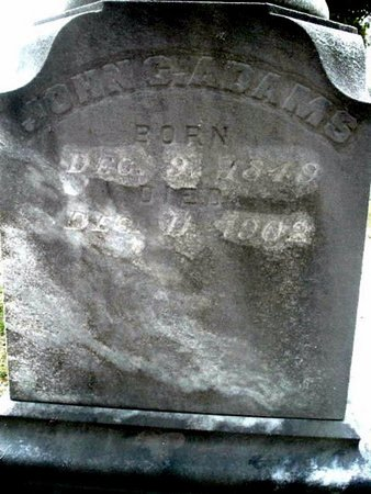 ADAMS, JOHN C. - Calhoun County, Michigan   JOHN C. ADAMS - Michigan Gravestone Photos
