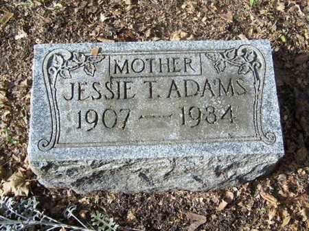 ADAMS, JESSIE T. - Calhoun County, Michigan   JESSIE T. ADAMS - Michigan Gravestone Photos