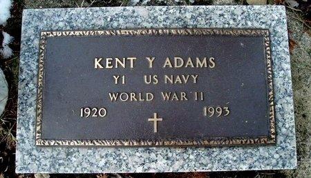ADAMS, KENT Y. - Calhoun County, Michigan | KENT Y. ADAMS - Michigan Gravestone Photos