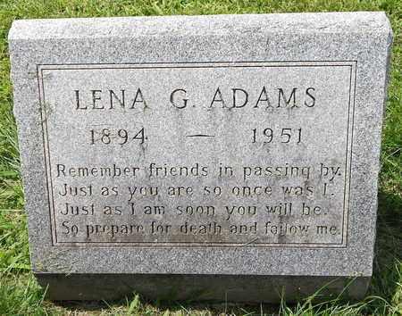 ADAMS, LENA G. - Calhoun County, Michigan | LENA G. ADAMS - Michigan Gravestone Photos