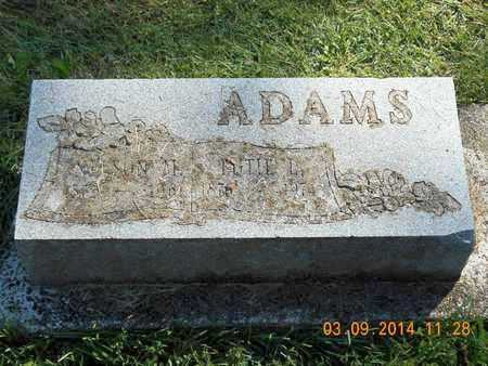ADAMS, NELSON M. - Calhoun County, Michigan | NELSON M. ADAMS - Michigan Gravestone Photos