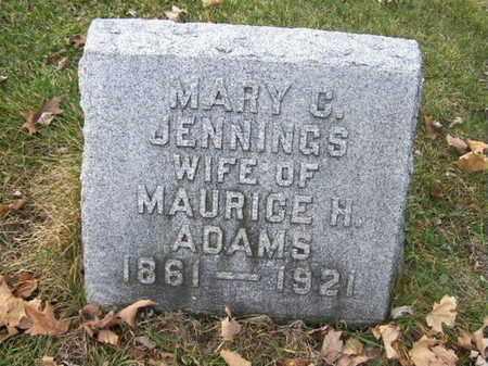 ADAMS, MARY C. - Calhoun County, Michigan | MARY C. ADAMS - Michigan Gravestone Photos