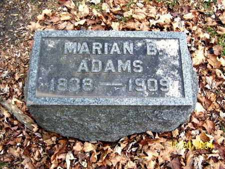 ADAMS, MARIAN - Calhoun County, Michigan | MARIAN ADAMS - Michigan Gravestone Photos