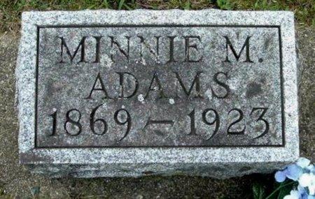 ADAMS, MINNIE M - Calhoun County, Michigan   MINNIE M ADAMS - Michigan Gravestone Photos