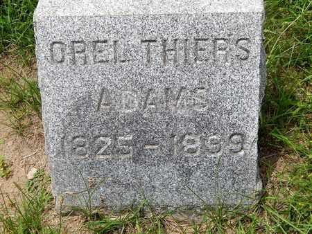 ADAMS, OREL THIERS - Calhoun County, Michigan | OREL THIERS ADAMS - Michigan Gravestone Photos