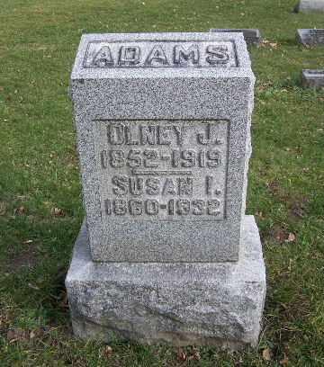ADAMS, OLNEY JOHN - Calhoun County, Michigan | OLNEY JOHN ADAMS - Michigan Gravestone Photos