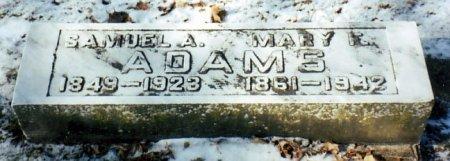 ADAMS, SAMUEL A. - Calhoun County, Michigan | SAMUEL A. ADAMS - Michigan Gravestone Photos