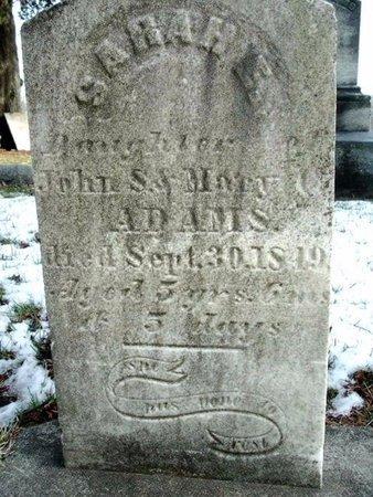 ADAMS, SARAH E. - Calhoun County, Michigan | SARAH E. ADAMS - Michigan Gravestone Photos
