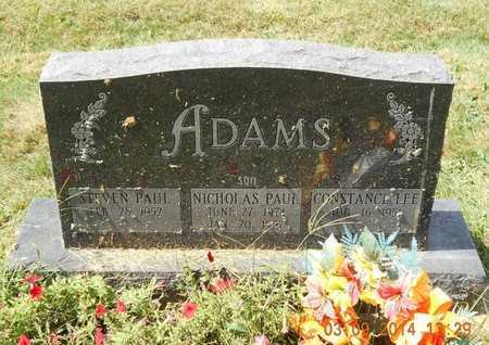 ADAMS, NICHOLAS PAUL - Calhoun County, Michigan | NICHOLAS PAUL ADAMS - Michigan Gravestone Photos