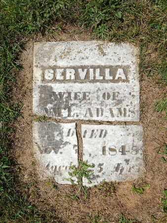 ADAMS, SERVILLA - Calhoun County, Michigan | SERVILLA ADAMS - Michigan Gravestone Photos