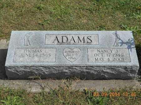 ADAMS, NANCY J. - Calhoun County, Michigan | NANCY J. ADAMS - Michigan Gravestone Photos