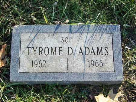 ADAMS, TYROME D. - Calhoun County, Michigan | TYROME D. ADAMS - Michigan Gravestone Photos