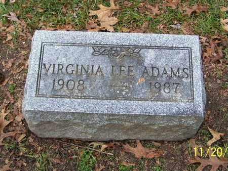 ADAMS, VIRGINIA LEE - Calhoun County, Michigan   VIRGINIA LEE ADAMS - Michigan Gravestone Photos