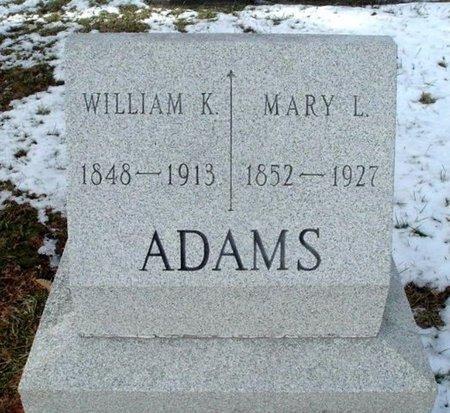 ADAMS, WILLIAM K. - Calhoun County, Michigan | WILLIAM K. ADAMS - Michigan Gravestone Photos