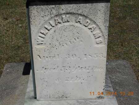 ADAMS, WILLIAM - Calhoun County, Michigan   WILLIAM ADAMS - Michigan Gravestone Photos