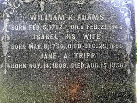 ADAMS, WILLIAM K. - CLOSE UP - Calhoun County, Michigan | WILLIAM K. - CLOSE UP ADAMS - Michigan Gravestone Photos
