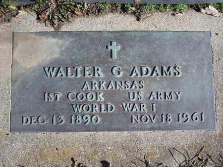 ADAMS, WALTER G. - Calhoun County, Michigan | WALTER G. ADAMS - Michigan Gravestone Photos