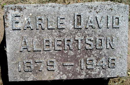 ALBERTSON, EARLE DAVID - Calhoun County, Michigan | EARLE DAVID ALBERTSON - Michigan Gravestone Photos