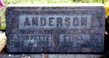 ANDERSON, C. BURDETTE - Calhoun County, Michigan | C. BURDETTE ANDERSON - Michigan Gravestone Photos