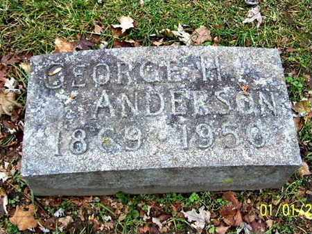 ANDERSON, GEORGE H - Calhoun County, Michigan   GEORGE H ANDERSON - Michigan Gravestone Photos
