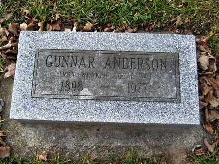 ANDERSON, GUNNAR - Calhoun County, Michigan | GUNNAR ANDERSON - Michigan Gravestone Photos
