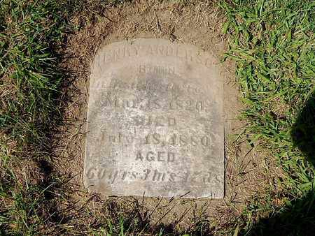 ANDERSON, HENRY - Calhoun County, Michigan   HENRY ANDERSON - Michigan Gravestone Photos