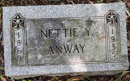 ANWAY, NETTIE - Calhoun County, Michigan   NETTIE ANWAY - Michigan Gravestone Photos