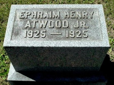 ATWOOD, EPHRAIM HENRY JR - Calhoun County, Michigan | EPHRAIM HENRY JR ATWOOD - Michigan Gravestone Photos