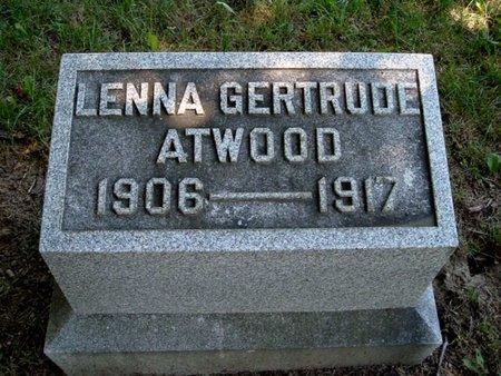 ATWOOD, LENNA G. - Calhoun County, Michigan | LENNA G. ATWOOD - Michigan Gravestone Photos