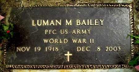 BAILEY, LUMAN M - Calhoun County, Michigan | LUMAN M BAILEY - Michigan Gravestone Photos