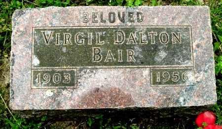 BAIR, VIRGIL D - Calhoun County, Michigan   VIRGIL D BAIR - Michigan Gravestone Photos