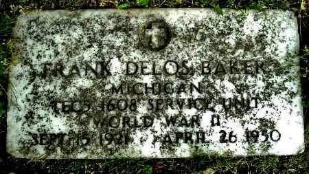 BAKER, FRANK D - Calhoun County, Michigan   FRANK D BAKER - Michigan Gravestone Photos