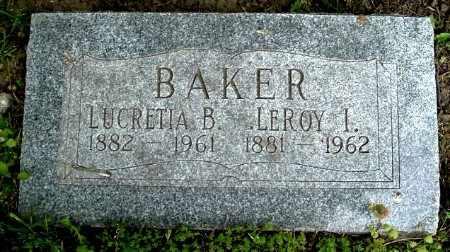 BAKER, LEROY I - Calhoun County, Michigan | LEROY I BAKER - Michigan Gravestone Photos