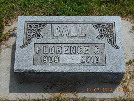 BALL, FLORENCE C. - Calhoun County, Michigan | FLORENCE C. BALL - Michigan Gravestone Photos