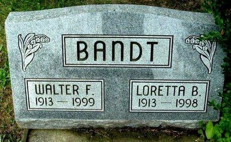 BANT, WALTER F - Calhoun County, Michigan | WALTER F BANT - Michigan Gravestone Photos
