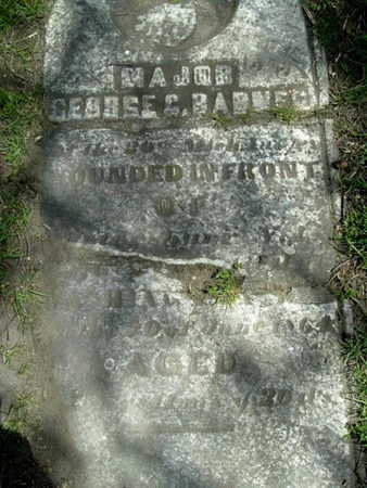 BARNES, GEORGE C., MAJ. - Calhoun County, Michigan | GEORGE C., MAJ. BARNES - Michigan Gravestone Photos