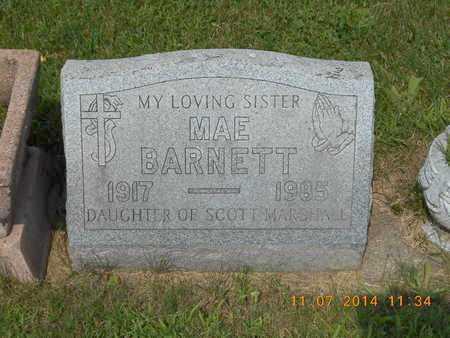 BARNETT, MAE - Calhoun County, Michigan | MAE BARNETT - Michigan Gravestone Photos