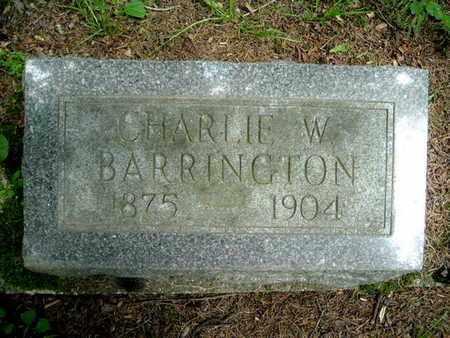 BARRINGTON, CHARLIE W. - Calhoun County, Michigan | CHARLIE W. BARRINGTON - Michigan Gravestone Photos