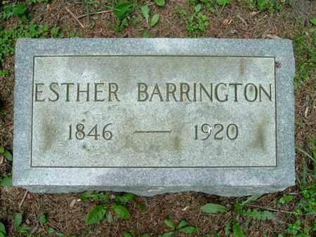 BARRINGTON, ESTHER - Calhoun County, Michigan | ESTHER BARRINGTON - Michigan Gravestone Photos
