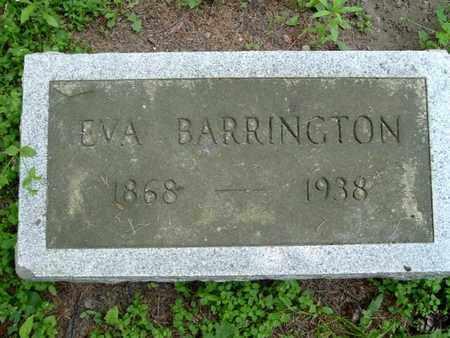 BARRINGTON, EVA - Calhoun County, Michigan   EVA BARRINGTON - Michigan Gravestone Photos